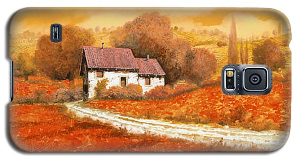 Landscapes Galaxy S5 Cases - Rosso Papavero Galaxy S5 Case by Guido Borelli