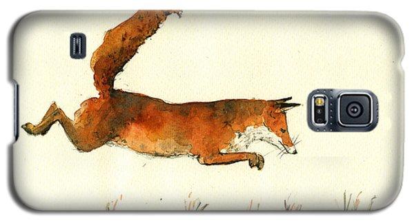 Running Fox Galaxy S5 Case by Juan  Bosco