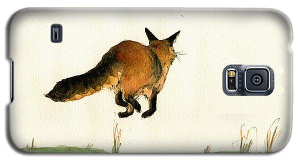 Running Fox Painting Galaxy S5 Case by Juan  Bosco