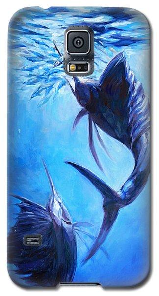 Sailfish And Ballyhoo Galaxy S5 Case by Tom Dauria