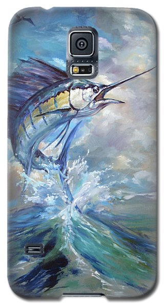 Sailfish And Frigate Galaxy S5 Case by Tom Dauria