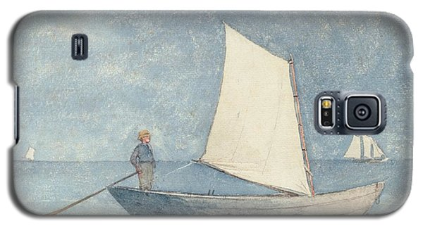Seascape Galaxy S5 Cases - Sailing a Dory Galaxy S5 Case by Winslow Homer
