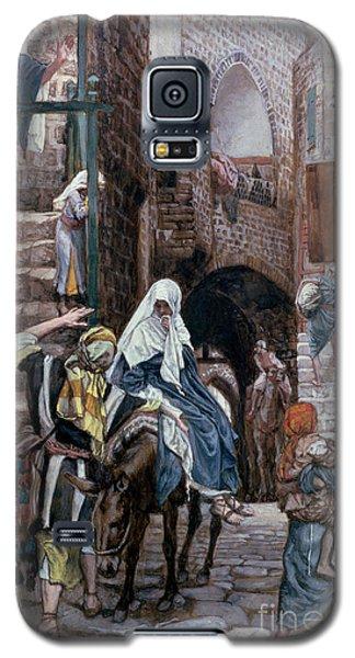 Saint Joseph Seeks Lodging In Bethlehem Galaxy S5 Case by Tissot