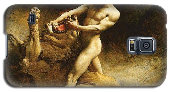 Samson's Youth Galaxy S5 Case by Leon Joseph Florentin Bonnat