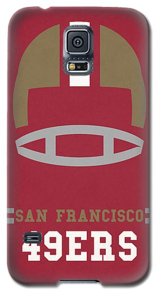San Francisco 49ers Vintage Art Galaxy S5 Case by Joe Hamilton