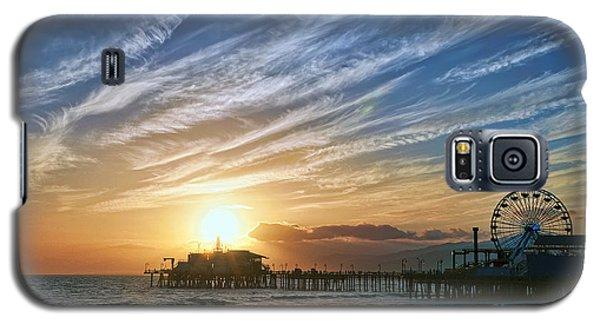 Santa Monica Pier Galaxy S5 Case by Eddie Yerkish