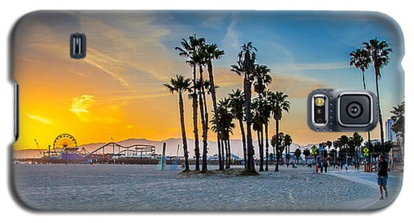 Santa Monica Sunset Galaxy S5 Case by Az Jackson