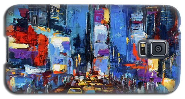 Saturday Night In Times Square Galaxy S5 Case by Elise Palmigiani