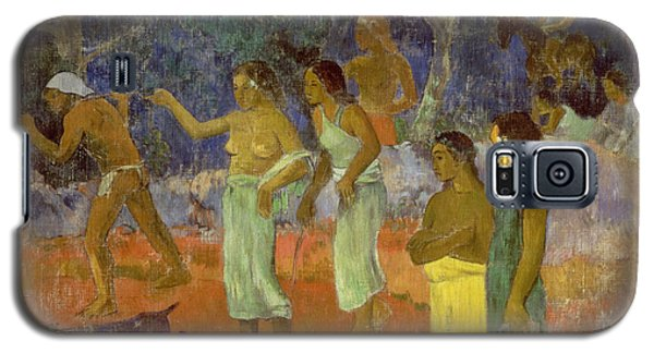 Scene From Tahitian Life Galaxy S5 Case by Paul Gauguin