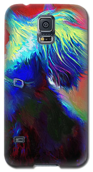 Scottish Terrier Dog Painting Galaxy S5 Case by Svetlana Novikova