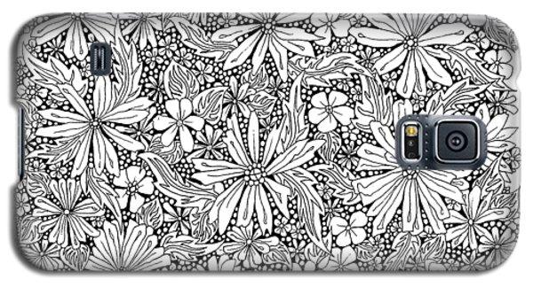 Sea Of Flowers And Seeds At Night Horizontal Galaxy S5 Case by Tamara Kulish
