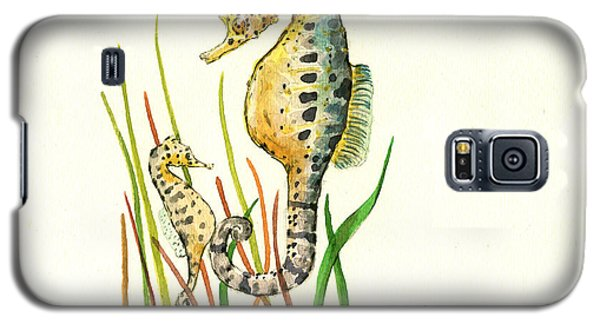 Seahorse Mom And Baby Galaxy S5 Case by Juan Bosco