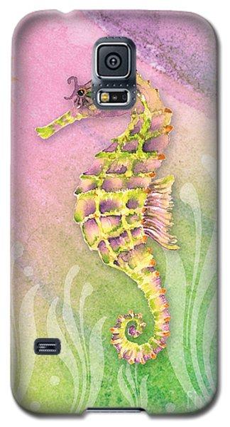 Seahorse Violet Galaxy S5 Case by Amy Kirkpatrick