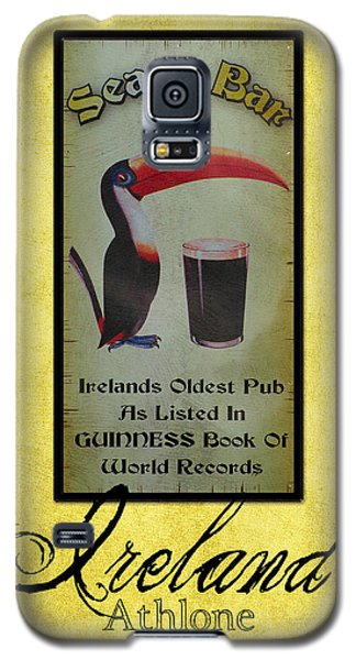 Seans Bar Guinness Pub Sign Athlone Ireland Galaxy S5 Case by Teresa Mucha