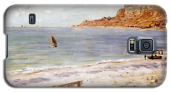 Seascape Galaxy S5 Cases - Seascape at Sainte Adresse  Galaxy S5 Case by Claude Monet