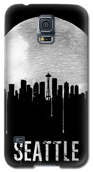 Seattle Skyline Black Galaxy S5 Case by Naxart Studio