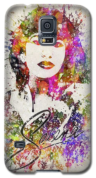Selena Quintanilla In Color Galaxy S5 Case by Aged Pixel