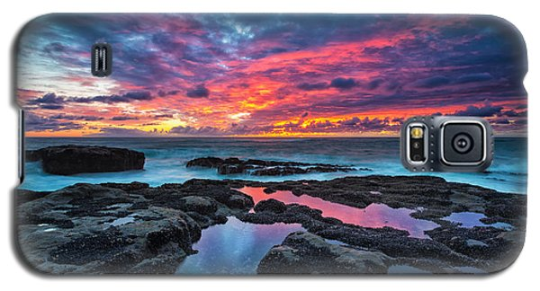 Blue Galaxy S5 Cases - Serene Sunset Galaxy S5 Case by Robert Bynum