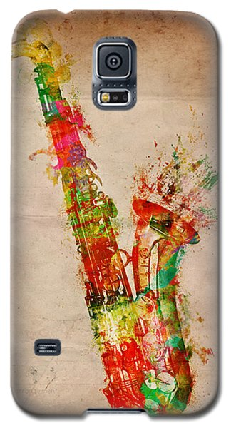Music Galaxy S5 Cases - Sexy Saxaphone Galaxy S5 Case by Nikki Smith