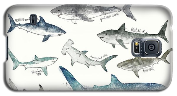 Sharks - Landscape Format Galaxy S5 Case by Amy Hamilton