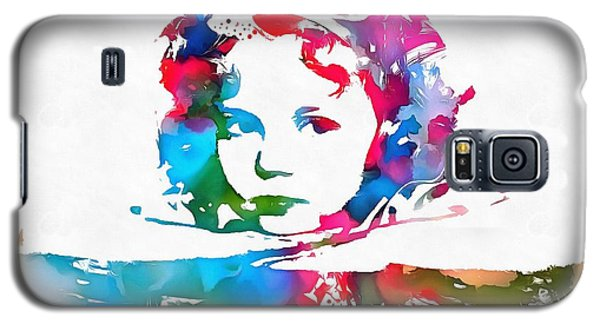 Shirley Temple Watercolor Paint Splatter Galaxy S5 Case by Dan Sproul