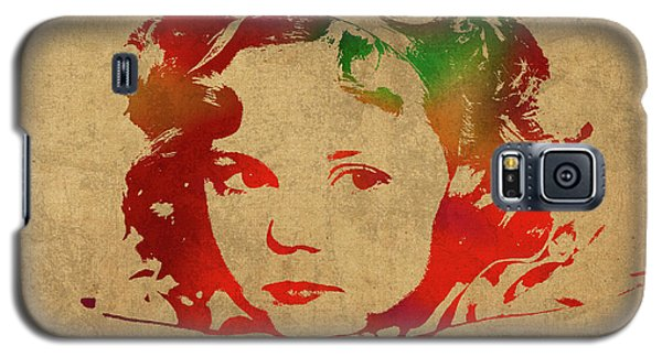 Shirley Temple Watercolor Portrait Galaxy S5 Case by Design Turnpike