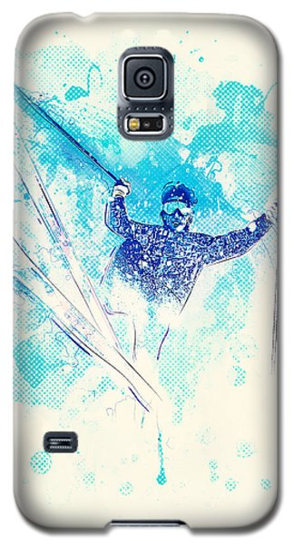 Skiing Down The Hill Galaxy S5 Case by Bekare Creative