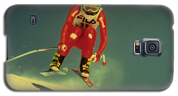 Galaxy S5 Case featuring the photograph Skiing In Crans Montana by Travel Pics