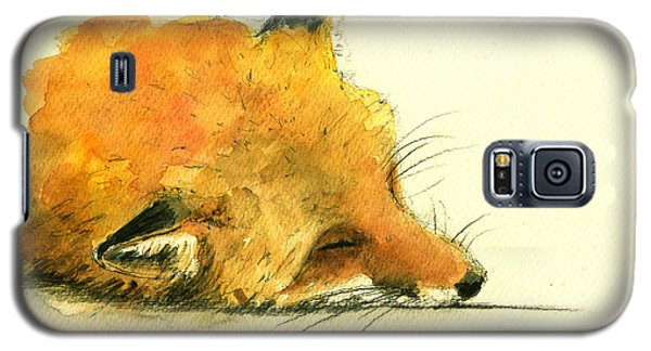 Sleeping Fox Galaxy S5 Case by Juan  Bosco