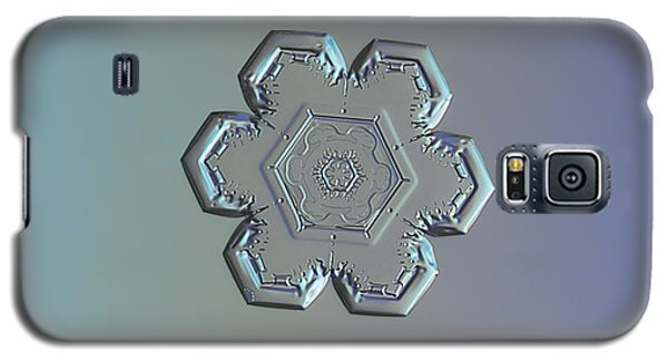 Snowflake Photo - Flower Within A Flower Galaxy S5 Case by Alexey Kljatov