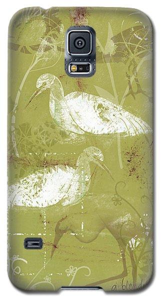 Snowy Egrets Galaxy S5 Case by Arline Wagner