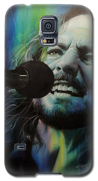 Eddie Vedder - ' Spectrum Of Vedder ' Galaxy S5 Case by Christian Chapman Art