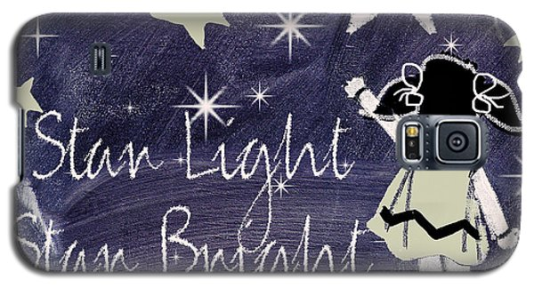 Star Light Star Bright Chalk Board Nursery Rhyme Galaxy S5 Case by Mindy Sommers