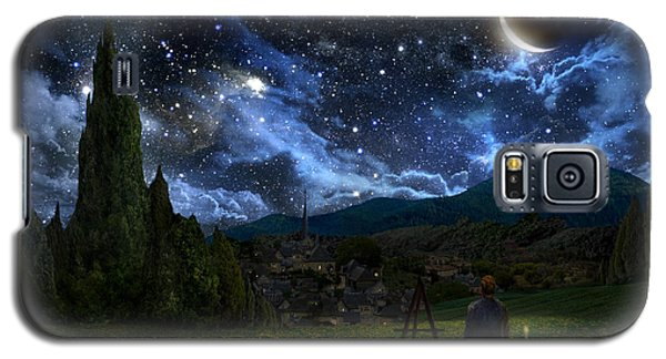 Landscapes Galaxy S5 Cases - Starry Night Galaxy S5 Case by Alex Ruiz