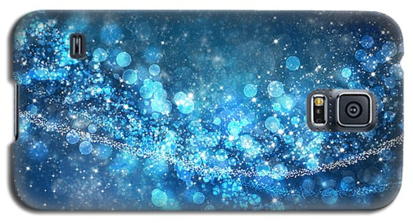 Blue Galaxy S5 Cases - Stars And Bokeh Galaxy S5 Case by Setsiri Silapasuwanchai