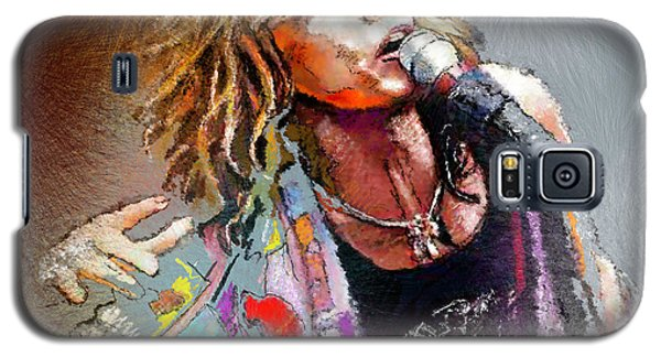 Steven Tyler 02  Aerosmith Galaxy S5 Case by Miki De Goodaboom