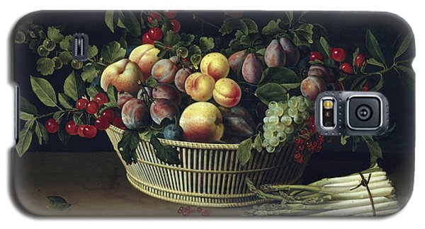 Still Life With A Basket Of Fruit And A Bunch Of Asparagus Galaxy S5 Case by Louise Moillon