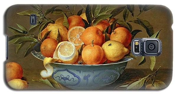 Still Life With Oranges And Lemons In A Wan-li Porcelain Dish  Galaxy S5 Case by Jacob van Hulsdonck