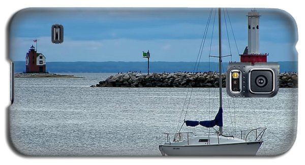 Storm Over Mackinac Galaxy S5 Case by Pamela Baker