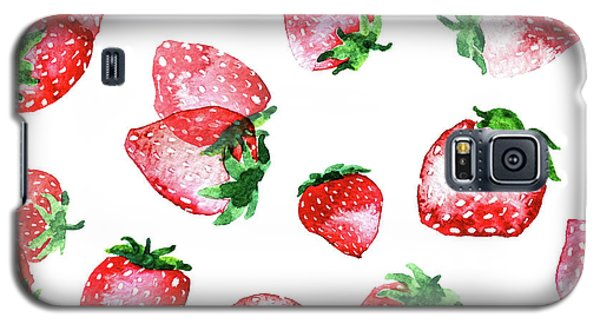 Strawberries Galaxy S5 Case by Varpu Kronholm