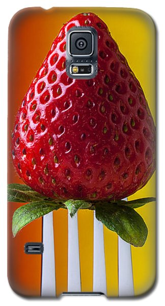 Strawberry On Fork Galaxy S5 Case by Garry Gay