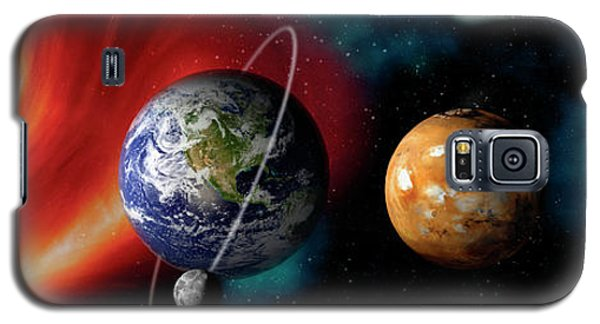 Sun And Planets Galaxy S5 Case by Panoramic Images