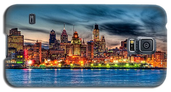 Sunset Over Philadelphia Galaxy S5 Case by Louis Dallara