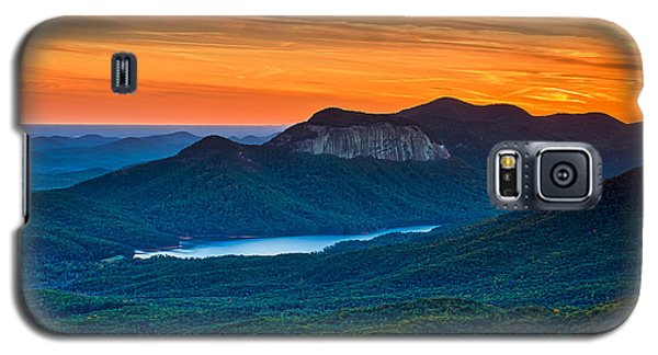 Sunset Over Table Rock From Caesars Head State Park South Carolina Galaxy S5 Case by T Lowry Wilson