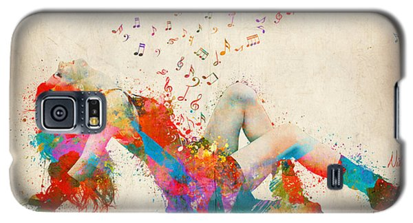 Sweet Jenny Bursting With Music Galaxy S5 Case by Nikki Smith