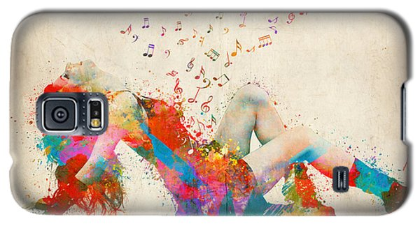 Music Galaxy S5 Cases - Sweet Jenny Bursting with Music Galaxy S5 Case by Nikki Smith