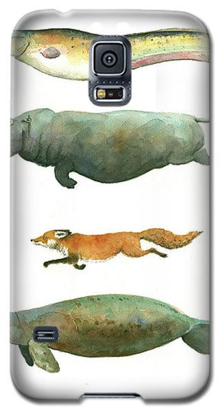 Swimming Animals Galaxy S5 Case by Juan Bosco