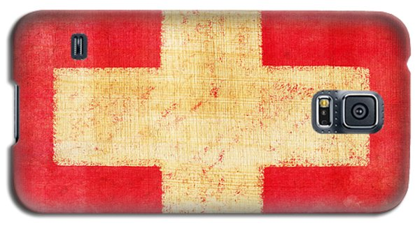 Red Galaxy S5 Cases - Switzerland flag Galaxy S5 Case by Setsiri Silapasuwanchai