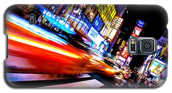 Taxis In Times Square Galaxy S5 Case by Az Jackson