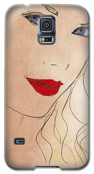 Taylor Red Lips Galaxy S5 Case by Pablo Franchi